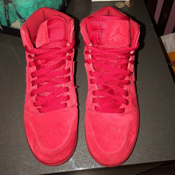 Nike Shoes   All Red Suede Air Force S
